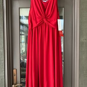 Maggy London Sleeveless Red Dress